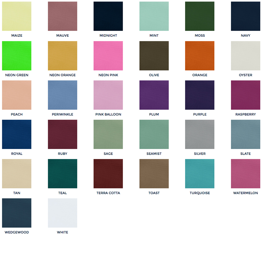 Table Cloth and Napkin Colors 2